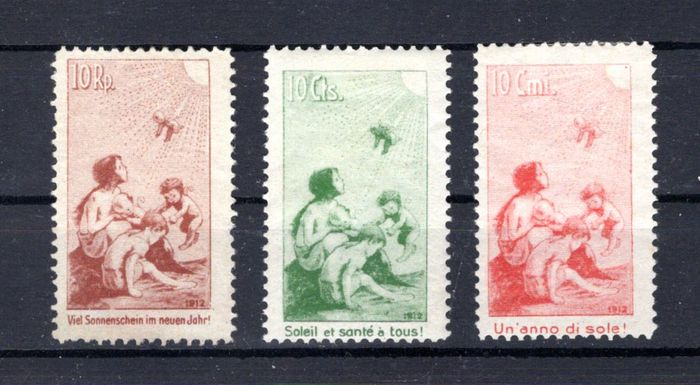 Suisse Pro Juventute complete from 1912 to 1923