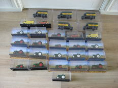 De Agostini - Scale 1/72-1/43 - Lot with 28 models: 10 x Tractors, 5 x Opel Trucks & 4 x Mercedes-Benz Buses & Fire Department
