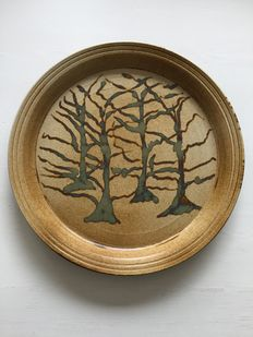 Lex Dierssen - Ceramic dish, four oakes in autumn