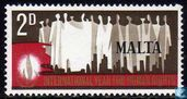 Postage Stamps - Malta - International year of human rights