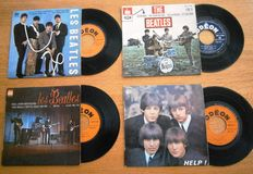 Four (4) gorgeous French Collectors Items (EP's) from The Beatles:  from the 1960s In VG++/ Excellent/Near Mint Condition
