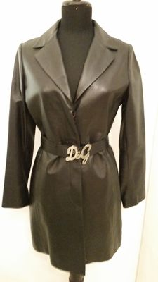 Dolce & Gabbana - Leather coat