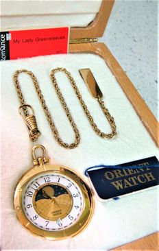 Orient - Nautical & marine pocket watch + box + fob