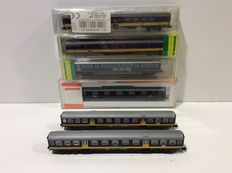 Fleischmann/Arnold/Trix N - 13318/13129/3656 - Total of 6 Plan-W, Plan-E and ICR carriages of the NS (lot 522)