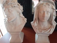Christ and Maria Busts 50's.