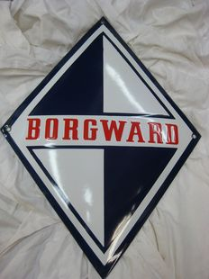 Borgward-enamel advertising sign-40 x 30 cm
