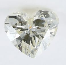 1.59 ct.  Heart Brilliant Natural Diamond  - N -  I1