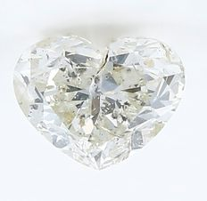 1.45 ct.  Heart Brilliant Natural Diamond  - J -  I1