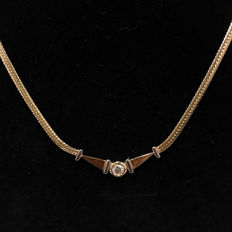 14kt diamond pendent necklace