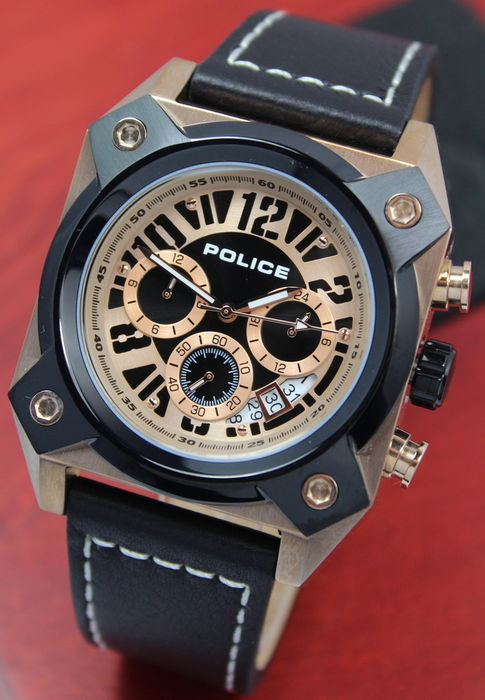 Police Rose Gold Men's Chronograph Watch