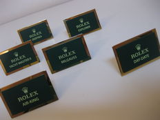6 Rolex plates for professional models, like new