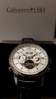 Calvaneo 1583 Valencia Platin Edition – men's wristwatch - unworn