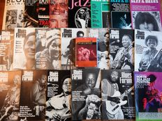 Lot of rare Jazz & Blues magazines (including Red, White and Blues dvd)