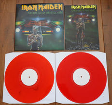 Iron Maiden- The Battle of Bristol 1986 2lp/ Limited, hand-numbered edition of 150 copies on red wax/ with tour book 1986 replica/ NEAR MINT