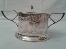 Art Nouveau silver sugar bowl - W.G. Connel goldsmith, London