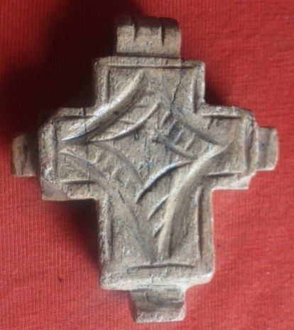 Cross Carved Bone - Europe 18th Centry