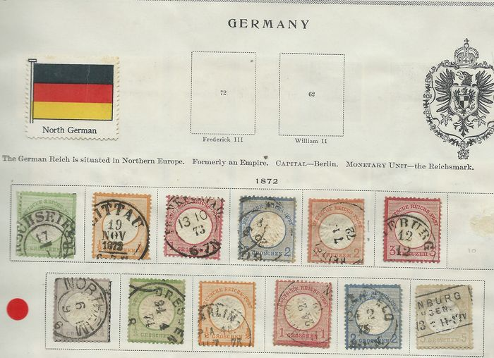 German Empire - Collection from the early years on Scott