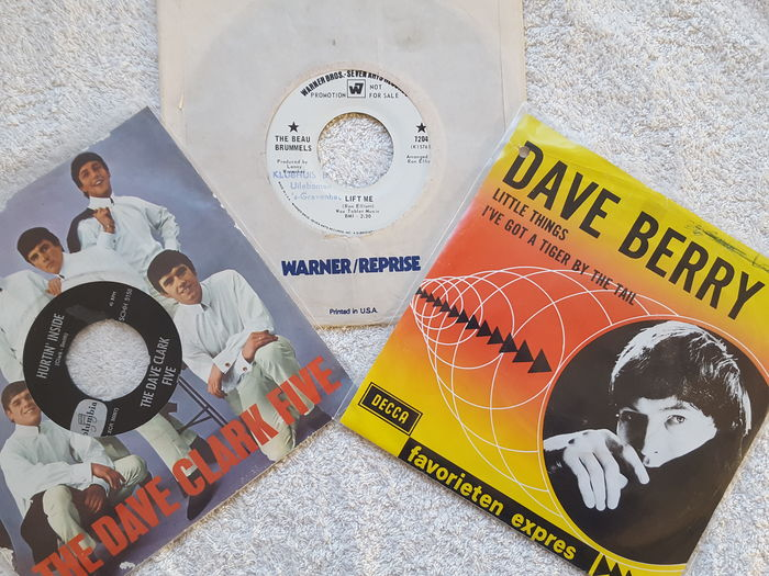 Lot of 26 vinyl 'Sixties' singles Pop & Beat: a.o. Barry Ryan / Dave Berry / Dave Clark Five & special item The Beau Brummels