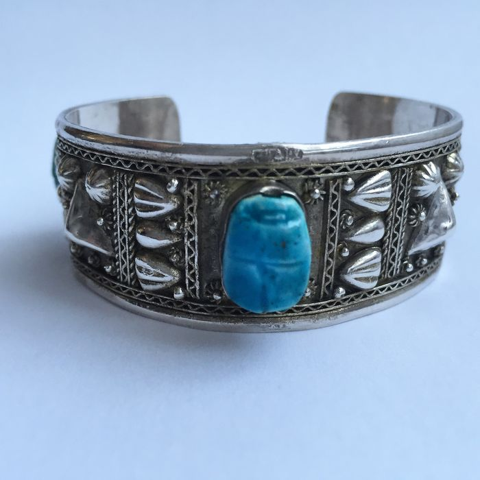 Antique Silver Bracelet From Egypt 950 1000 Catawiki