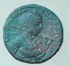 Roman Empire – Elagabalus (218 – 222)  Perinthos in Thrace bronze medallion.