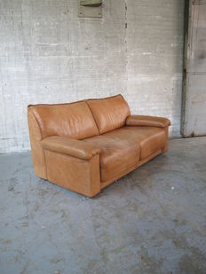 Rolf Benz – cognac leather lounge sofa