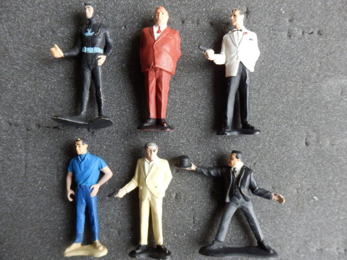 James Bond 007 - Gilbert - Set of 6 original figures from 1965
