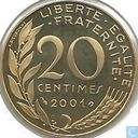 France 20 centimes 2001 (PROOF)