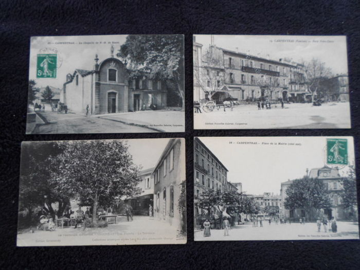 France - Lot of 141 old postcards of department 84 and some photos, interesting quality lot 60% animated