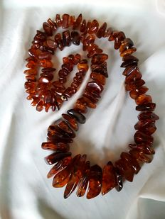 Amber necklace with large pieces, 210 gr.