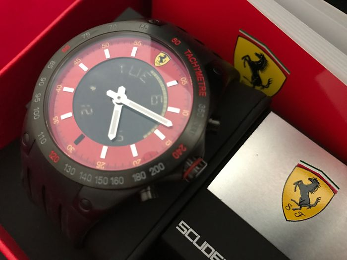 Ferrari Lap Time Chronograph - Men's wristwatch - 2008 - Mint condition
