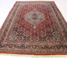 Oriental carpet, Indo Bidjar Herati, 190 x 270 cm, made in India at the end of the last century