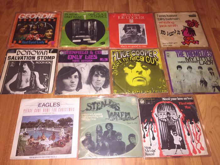 Super Lot 38 Singles 60`s and 70`s Superbands: Procol Harum,Fleetwood Mac,The Beatles,Joe Cocker,Alice Cooper,Nazareth,Cat Stevens and many more!