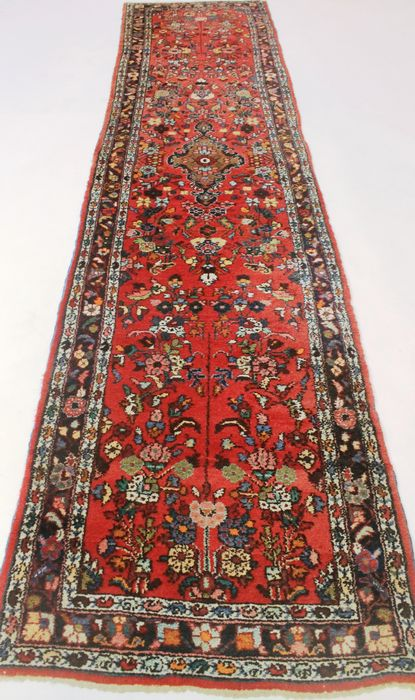 Tappeto persiano Sarough di 84 x 360 cm, fatto in Iran alla fine del XX secolo