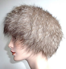 Super fur hat Arctic fox, fox fur, fur cap