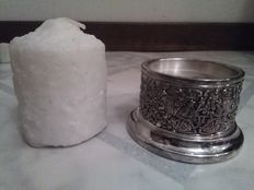 Candle holder with candle, hooijkaas, schoonhoven
