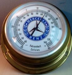 Mercedes Benz thermometer in brass casing - 2nd half of the 20th century.