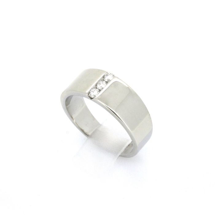 bague or blanc taille 52