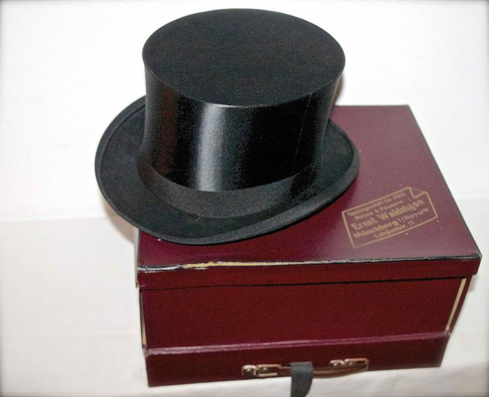 88360850fee Ernst Waldmann-silk top hat-chapeau claque - Catawiki