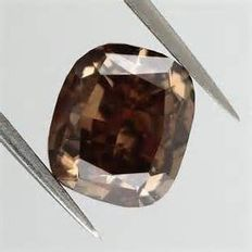 Beautiful Brown Orange diamond – 0.92 ct