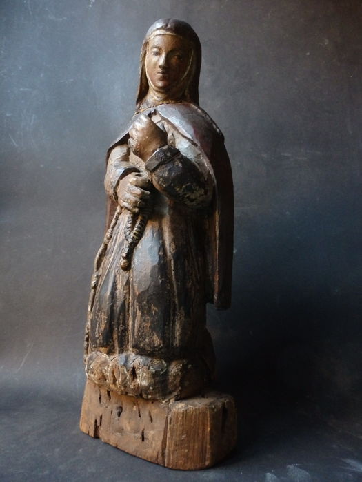 Beautiful statue ' Maria kneeling ' Tyrol-around 1780