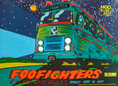 Foo Fighters & Supergrass - Concert Poster Fillmore SF July 18 1997. Near Mint.