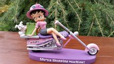 Betty Boop - King Feature Syndicate/ Fleisher Studios - Betty on motorcycle - small statue 18x6cm