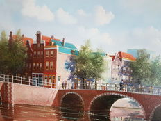 George Jan Dispo (1922-1973) - Brouwersgracht Amsterdam