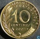 France 10 centimes 2001 (PROOF)