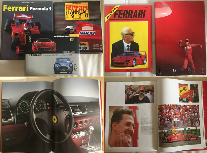 Ferrari - Lotto 8x annuari/libri/book  Ferrari Introvabili  1975/2000