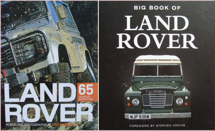 2 Books : Land Rover - 65 Years of Adventure & Big Book of Land Rover