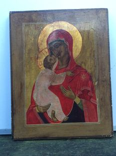 Finnish icon of Mother Mary with child-around 1900 or possibly slightly earlier-