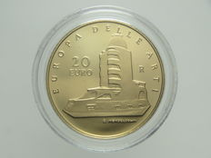Republic of Italy – 20 Euro, 2006 'Europa delle Arti – Germania' ('Europe of the Arts – Germany') – Gold