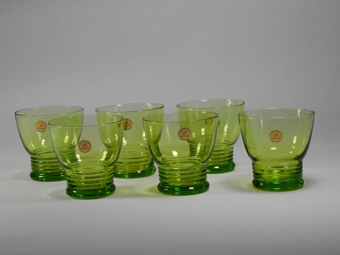 Chris Lebeau (Replica by Royal Leerdam)-six water glasses