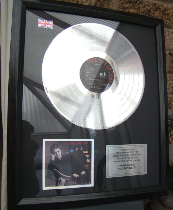 Paul McCartney All The Best Platinum Award